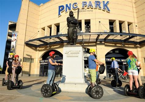 pittsburgh segway pnc park honus wagner statue at entrance to pittsburgh