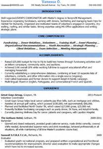 professional organizer resume sle cover letter for event management