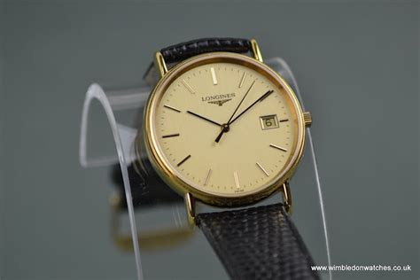 gents longines gold plated wr0691 wimbledon watches