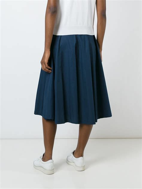Uniforme Blue Culotte M i m isola marras pleated culottes in blue lyst