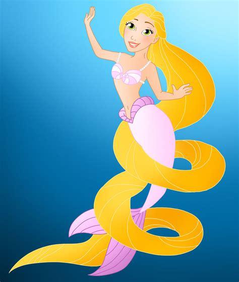 Disney Mermaids Rapunzel By Willemijn1991 On Deviantart Mermaid Princess Drawings