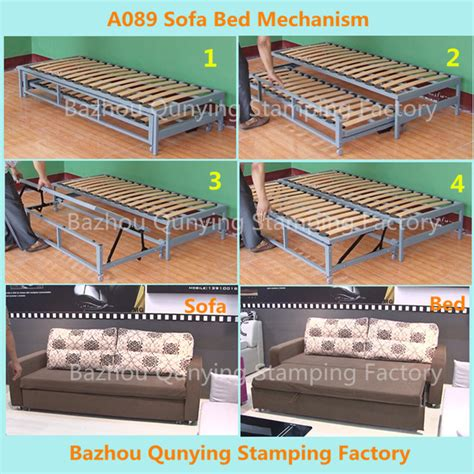 metal frame pull out sofa bed pulled out sofa bed mechanism frame a089 buy sofa bed