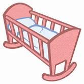 Baby cradle vector | Public domain vectors