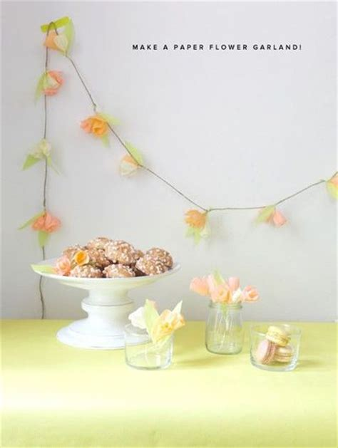 How To Make Tissue Paper Flower Garland - how to make a tissue paper flower garland diy wedding