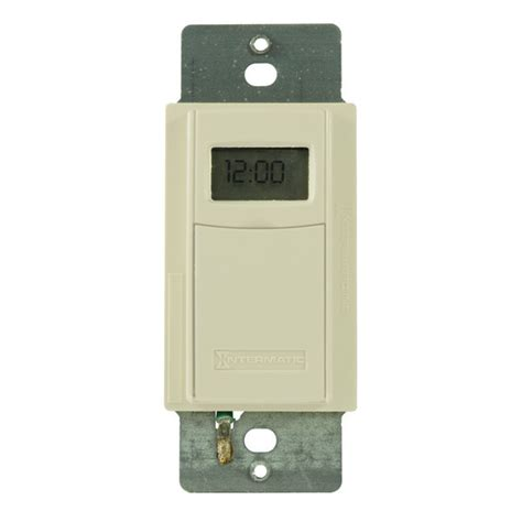 Intermatic Light Switch by Intermatic Ei600lac In Wall Decorator Time Switch