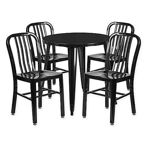 30 inch table and chairs buy flash furniture 5 30 inch metal table and