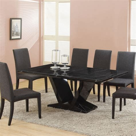 black marble dining room table eclipse black marble dining table only 18839 furniture in fa