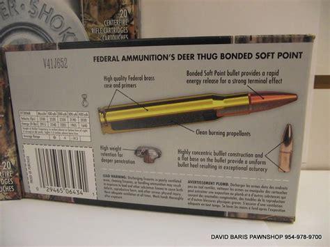federal ammunition deer thug 30 06 sprg 180gr for sale at