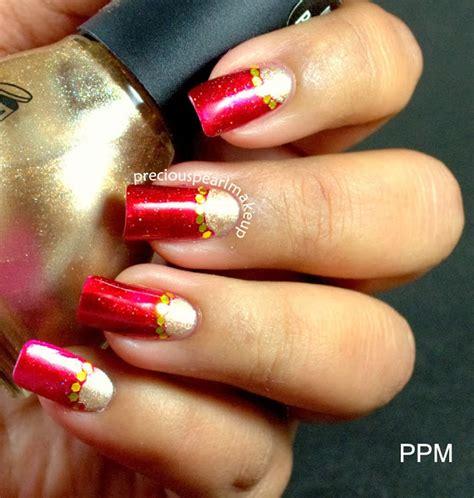 indian nail art tutorial preciouspearlmakeup indian bridal nail art and tutorial