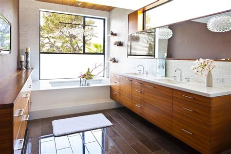mid century bathroom beautiful mid century modern bathroom vanity home ideas