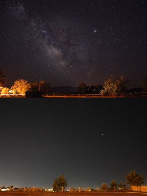 Sky Without Light Pollution by File Light Pollution Country Versus City Png Wikimedia