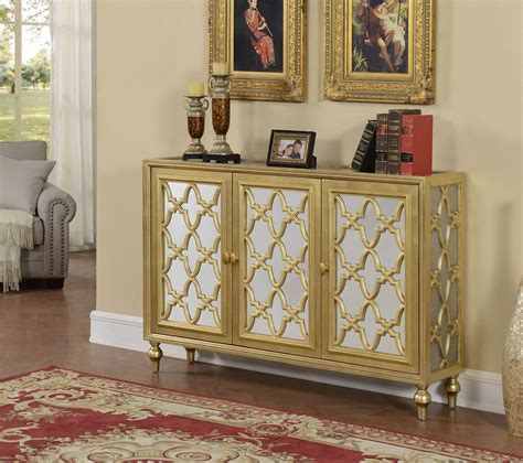 silver front door furniture garner gold and silver 3 door media credenza from coast to