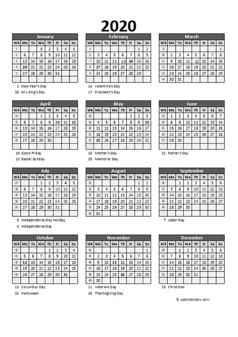 editable  yearly spreadsheet calendar  printable
