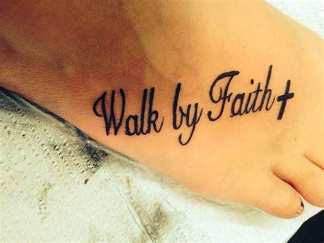 walk by faith tattoos walk by faith cross walkbyfaith cross