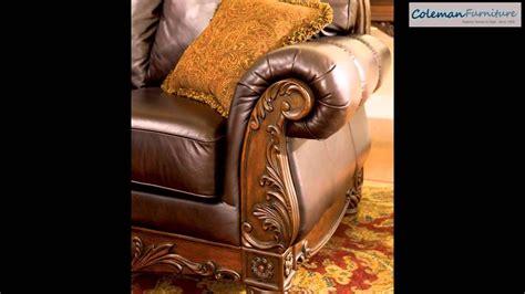north shore dark brown living room furniture  millennium  ashley youtube