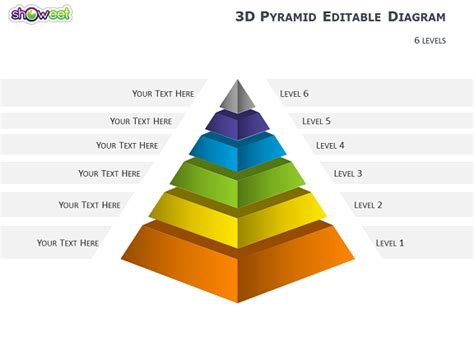 3d Pyramid Diagrams For Powerpoint Powerpoint Pyramid Template