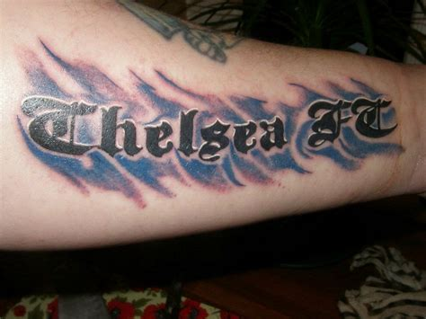 chelsea tattoo chelsea fc football club tattoos designs pictures