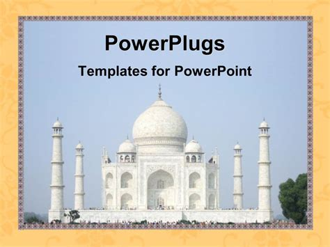 Powerpoint Template The Beautiful Depiction Of Taj Mahal Ppt On Taj Mahal