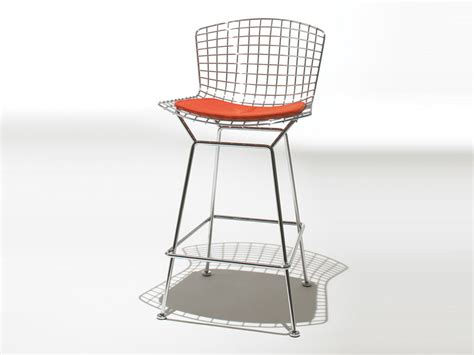 Bertoia Bar Stool With Seat Pad by Buy The Knoll Bertoia Bar Stool With Seat Pad At Nest Co Uk