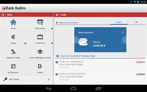 bank austria mobile banking app bank austria mobilebanking android