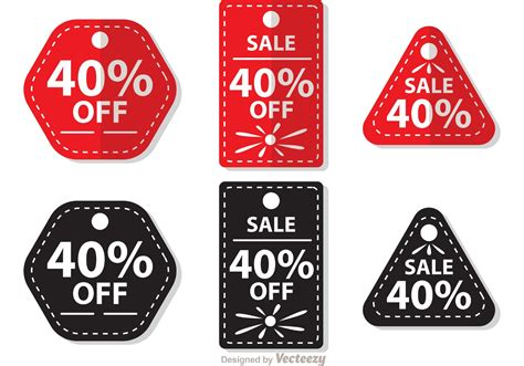 Sale Original sale 40 percent tag vectors free vector