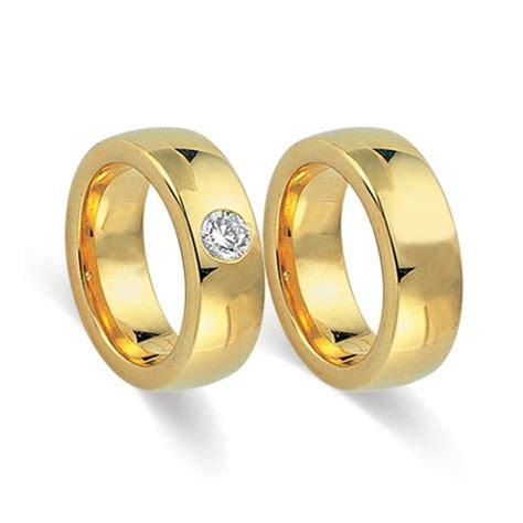 Eheringe 750er Gelbgold by Trauringe 750er Gelbgold Mit Diamant Wr0109 7s