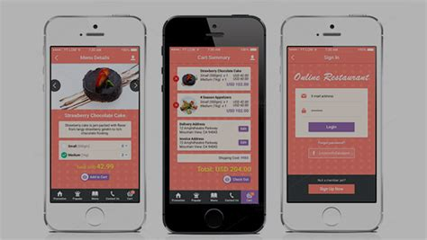 mobile apps design templates template