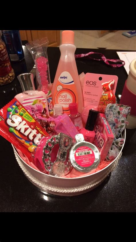 i made this color themed basket for my best friend a 16th