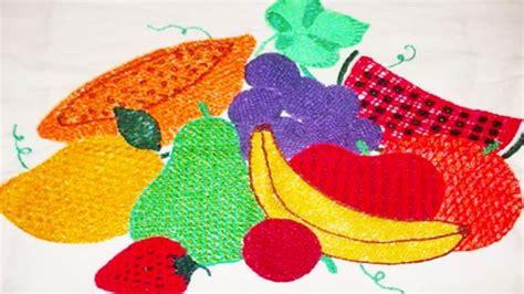 bordados de frutas en servilletas bordados de fantas 237 a de frutas imagui