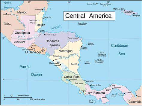 map of central american countries central american countries agree to let stranded cubans