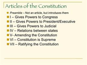 Outline Of Articles Of The Us Constitution by Basics Of The Constitution