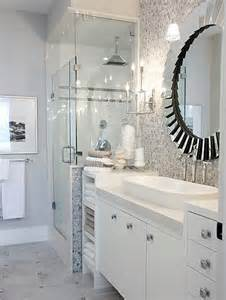 White And Grey Bathroom Ideas by Hex Backspalsh Contemporary Bathroom Sarah