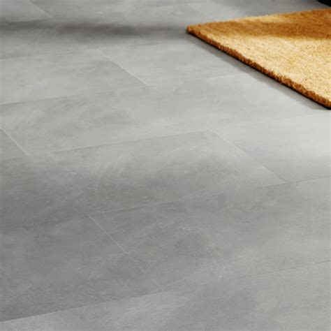 B Q Lino Flooring by Colours Grey Effect Luxury Vinyl Click Flooring 1