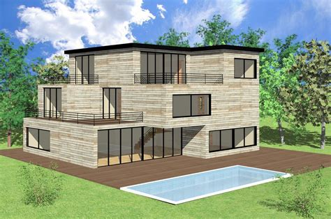 live roof rvt 3d rvt modern house