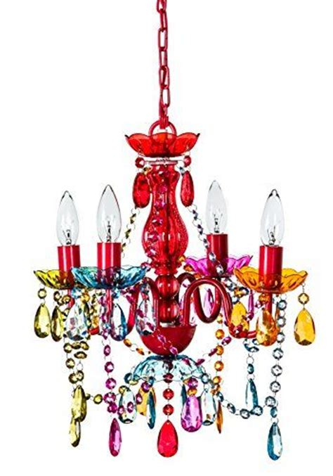 colored chandeliers color 4 arm multi color small acrylic chandelier new boho chic lighting ceiling