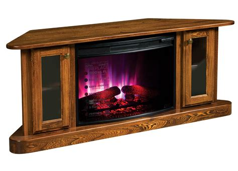 amish corner electric fireplace tv stand electric