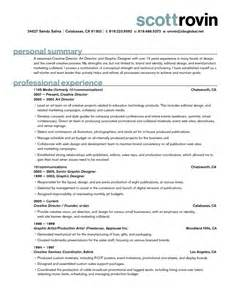 Sle Resume Of A Creative Director resume exles creative director resume ixiplay free