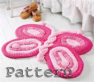 butterfly crochet pattern rug for patio bathroom or home
