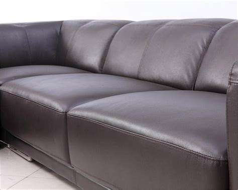 contemporary brown leather sofa brown leather sectional sofa in contemporary style 44l5981