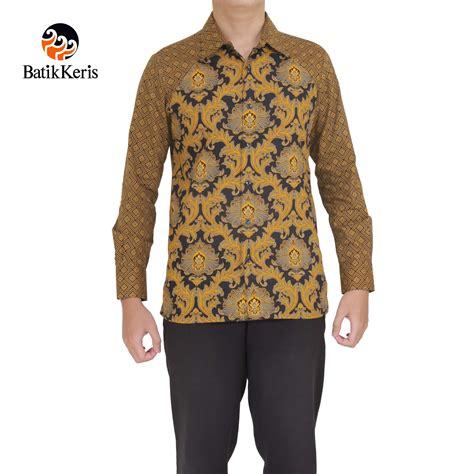 Kemeja Lengan Panjang Motif Bunga batik keris 187 kemeja batik slimfit lengan panjang