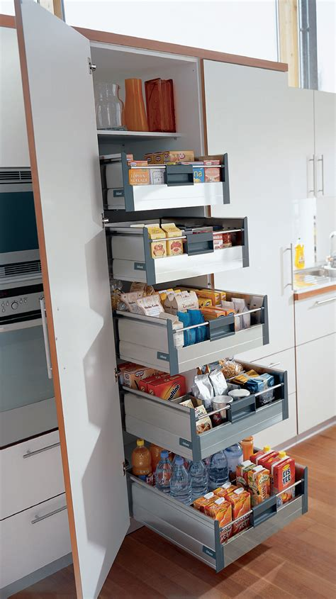 kitchen cabinet pantry unit blum tandembox larder unit the wide pantry unit is