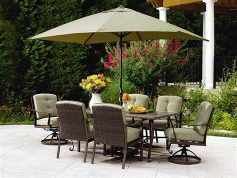 Patio Table Set With Umbrella 6 Seat Patio Set With Umbrella Patio Building