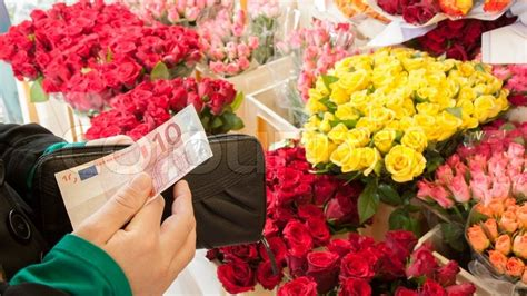 Buy Flowers by A Buying Flowers Stock Photo Colourbox