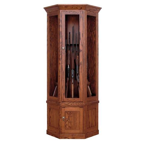 7 Gun Cabinet by Allegheny 7 Gun Corner Cabinet Amish Made Corner Gun