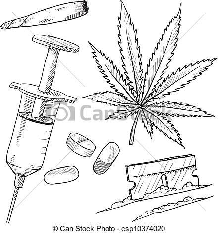 imagenes para pintar sobre la droga ilustraciones de vectores de drogas ilegal bosquejo