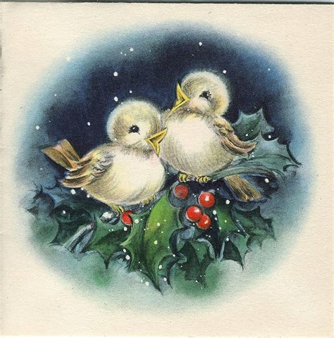 christmas welcome birds 17 best images about vintage cards on postcards and