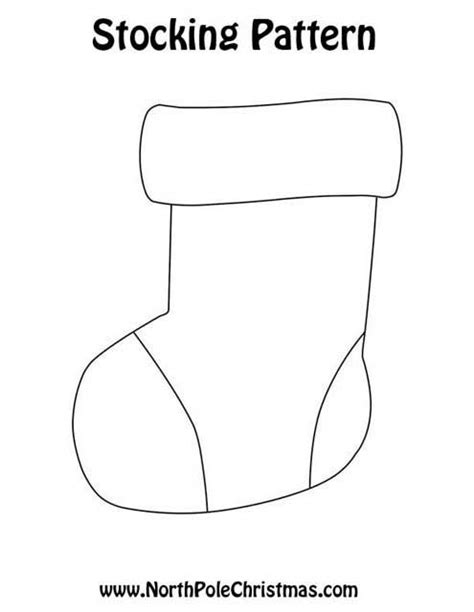 pattern for a small christmas stocking stocking pattern printable new calendar template site