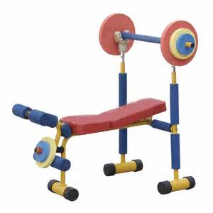 weight bench set for kids fun fitness weight bench set