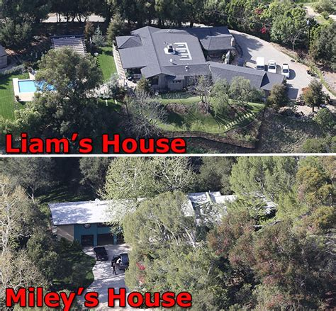 Liam Hemsworth House by Digs Miley And Liam Buy Adjacent Shacks In