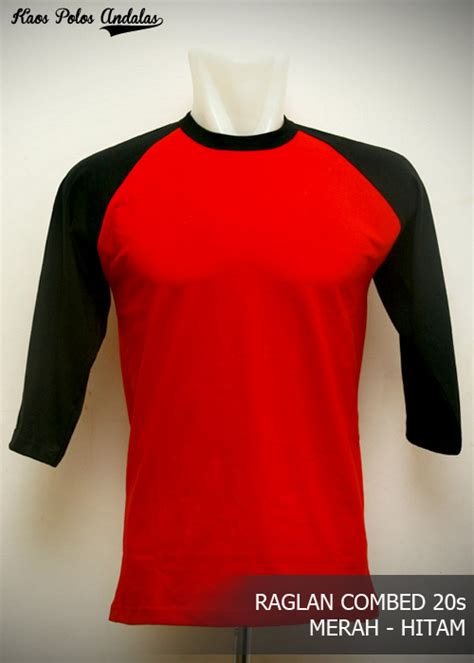 Kaos Distro Hitam Ready To Rase kaos polos raglan lengan 3 4 cotton combed 20s grosir